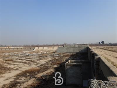 زمین ۴ دیواری با مجوز از جهاد